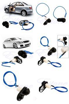 [Visit to Buy] 2Pcs/set  New Universal Car Auto Interior Black Push Button Door Light Lamp Switch hot-D2TB #Advertisement