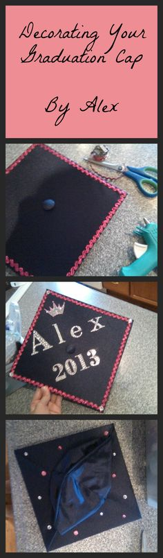 Decorating your own graduation cap!! This is just what I did for mine and I hope you can get some inspiration for your own cap from it! Super easy I did it in like 30 minutes :) Got all supplies from Hobby Lobby for $20