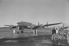 Qantas Lockheed Constellation VH-EAA, Whenuapai Airport, Auckland,  26-April-1951