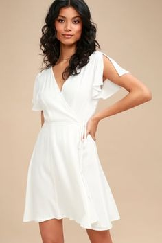 6a5305881b Cute White Dress - Embroidered Dress - Embroidered Mini Dress White Dress  Summer