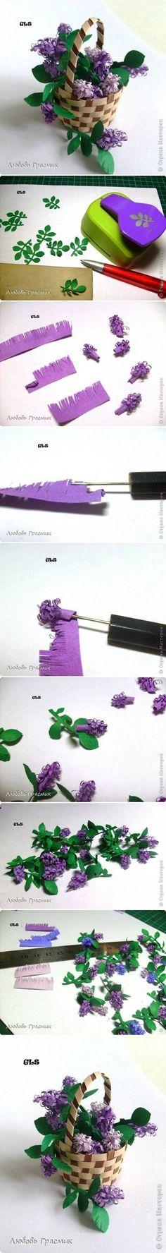DIY Lilac Paper Flowers