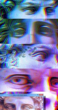 vaporwave sfondi Image shared by Mela. Find images and videos about eyes, wallpaper and background on We Heart It - the app to get lost in what you love. Glitch Wallpaper, Tumblr Wallpaper, Aesthetic Iphone Wallpaper, Wallpaper Backgrounds, Aesthetic Wallpapers, Eyes Wallpaper, Vaporwave Wallpaper, Vaporwave Art, Sports Wallpapers