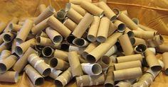 Tout un tas de rouleaux de papier hygiénique! C'est surprenant de voir tout ce…