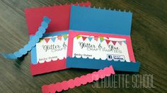 Zipper Business Card Holder by My Paper Craze for Silhouette School