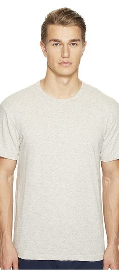 Todd Snyder + Champion Heathered Basic Tee (Eggshell Mix) Men's T Shirt - Todd Snyder + Champion, Heathered Basic Tee, KN02201000-BL39, Apparel Top Shirt, T Shirt, Top, Apparel, Clothes Clothing, Gift, - Fashion Ideas To Inspire