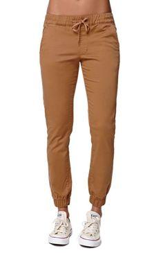 Bullhead Denim Co. Chino Twill Drawcord Jogger Pants - Womens Pants