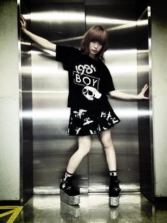Kyary Pamyu Pamyu modeling for Boy London