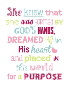 She knew that she was formed by Gods hands by LittleLifeDesigns
