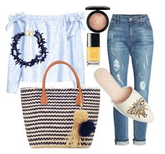 """""""Summer night"""" by molar on Polyvore featuring H&M, Kenneth Jay Lane, KUT from the Kloth, Buji Baja, MAC Cosmetics, Chanel and basketbags Kenneth Jay Lane, Summer Nights, Mac Cosmetics, Chanel, Polyvore, Fashion, Moda, Fashion Styles, Fashion Illustrations"""