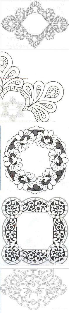 Кружевные шаблоны или схемы для рукоделия |Горячие кружева. Гильоширование или…