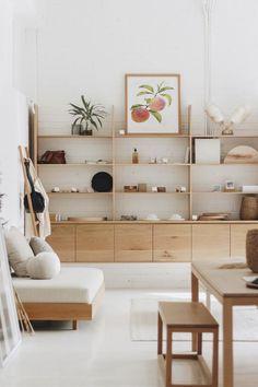Romantic Home Decor, Cute Home Decor, Cheap Home Decor, Wood Home Decor, Wooden Decor, Design Living Room, Home Living Room, Living Room Decor, Shelving In Living Room