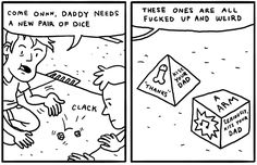Comic about dice by Ryan Pequin (threewordphrase.com)