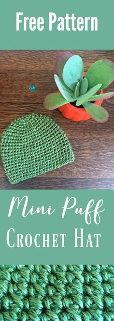 Free Crochet Hat Pattern with the mini puff stitch | crochet tutorial hat | crochet beanie pattern free | adult beanie crochet pattern | crochet adult hat free pattern | puff stitch hat | modified puff stitch