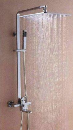 12-Big-LED-Square-Shower-Head-Bathroom-Rainfall-Shower-Faucet-Set-YS-5564k