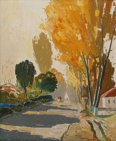 Autumn at Manati, 1985 - oil, 60 x 50 cm - Pashk Pervathi