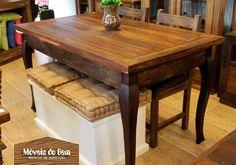 Mesa de jantar de madeira de demolição - http://moveisdobem.com