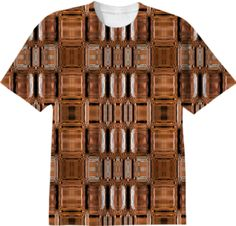 T-shirt in geometric bronse pattern from Print All Over Me