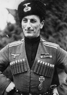 Wehrmacht-Heer is a russian Cossack Officer.this relates because the cossacks fought a big battle against western region of asia