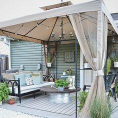 Before & After: A Thrifted Budget-Friendly Patio Makeover  - CountryLiving.com