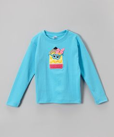 $15.99 Turquoise Pencil Tee - Toddler by Petunia Petals #zulily #zulilyfinds