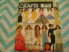 BROOKE SHIELDS DOLL CLOTHES SEWING PATTERN MCCALLS 8727 VINTAGE #McCall