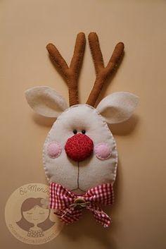 felt reindeer ornie
