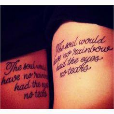 Best friend tattoos.
