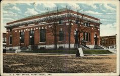 FAYETTEVILLE AR US Post Office Exterior Street View c1920 Postcard