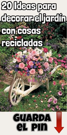 20 Ideas para decorar el jardín con cosas recicladas - Oven Tutorial and Ideas Terrace Garden, Garden Art, Fence Garden, Garden Beds, Kids Attractions, Black And White People, Small Space Interior Design, Gardening For Beginners, Dream Garden