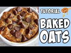 How to make Baked Oats! tutorial - YouTube Baked Oats, Delicious Chocolate, No Bake Cake, Scones, Donuts, Make It Simple, Muffins, Deserts, Easy Meals