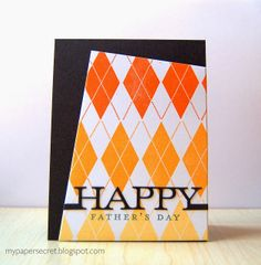 Argyle Father's Day Card by Cristina Kowalczyk for Papertrey Ink (November 2013)