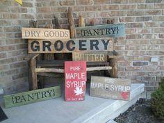 Custom signage on vintage planks @ www.woodandtique.com