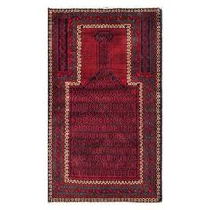 Shop for Herat Oriental Semi-antique Afghan Hand-knotted Tribal Balouchi Red/ Navy Wool Rug (2'8 x 4'7). Get free delivery at Overstock.com - Your Online Area Rugs Shop! Get 5% in rewards with Club O!