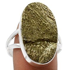 925 Solid Sterling Silver Ring with Illinois Pyrite Sun size 10