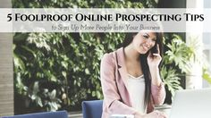 Prospecting is one of the most crucial skills to develop as a home business owner. Without targeted leads or qualified people to talk to about your busines  http://blog.myleadsystempro.com/5-foolproof-online-prospecting-tips/?id=thimopro