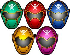 Power Rangers Super MegaForce Masks by KalEl7 on deviantART