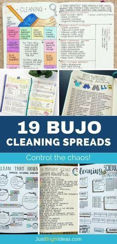 If you struggle to keep your home clean and tidy you're going to love today's Bullet Journal cleaning schedules. Pick out the spread that you love the most and stay on top of the chores once and for all! Bullet Journal Cleaning Schedule, Planner Bullet Journal, Bullet Journal Spread, Cleaning Checklist, Bullet Journal Layout, Bullet Journal Inspiration, Cleaning Hacks, Cleaning Schedules, Cleaning Challenge