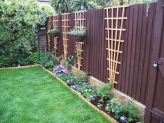small border and trellis inside fence