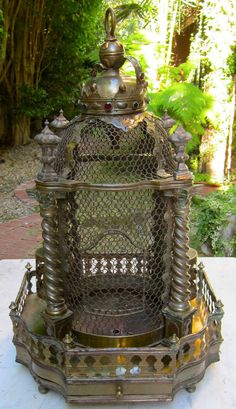 Vintage Arabesque And Ornate Bird Cage