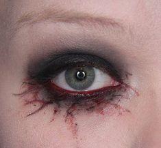 Make up your Jangsara: Halloween Tutorial: Scary sexy Charakter. - Halloween Make-up Ghost Makeup, Witch Makeup, Horror Makeup, Scary Makeup, Fx Makeup, Makeup Ideas, Makeup Man, Demon Makeup, Doll Makeup