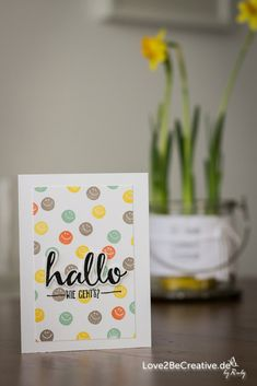 Love2becreative.de - Saw this cute card at Pootles Paper Crafts and had to Case it - so adorable!!  Sale-a-Bration 2016, Stampin' Up!, Hallo, Hello, In-Colors, Card, Birthday Card, Geburtstagskarte, Smileys