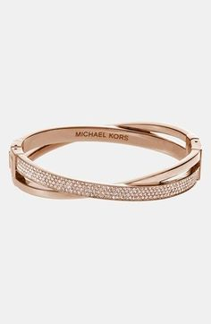 Michael Kors 'Brilliance' Crisscross Hinged Bracelet available at #Nordstrom