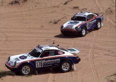 Porsche 9114x41984 and 9594x41986 dakar winners