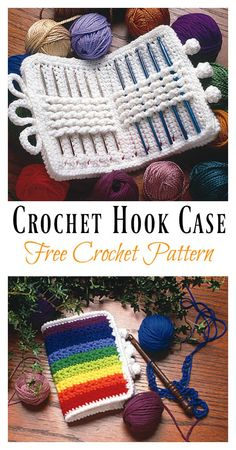 Crochet Hook Case Free Crochet Pattern #crochet #freepattern #crochetbag
