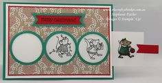 Stampin Up, #thecraftythinker, Christmas Card, Xmas Card, Magic Card, Merry Mice