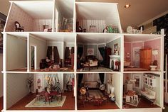 Making or decorating a dollhouse can tap into a girl's creative thinking. This dollhouse was assembled by Anne Ritter. Tulsa World file