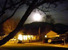 Moonrise, Reno, Nevada, NV.