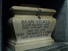 Grave Marker- Bram Stokers ashes, Golders Green by Andy Dolman