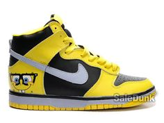 hot sales af8dd 9749e Buy Spongebob Squarepants Characters Customize Shoes for sale. The newest  style Spongebob Shoes Nike Dunk High Squarepants Custom Yellow Sb Dunks.