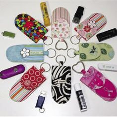 Key fobs with pockets